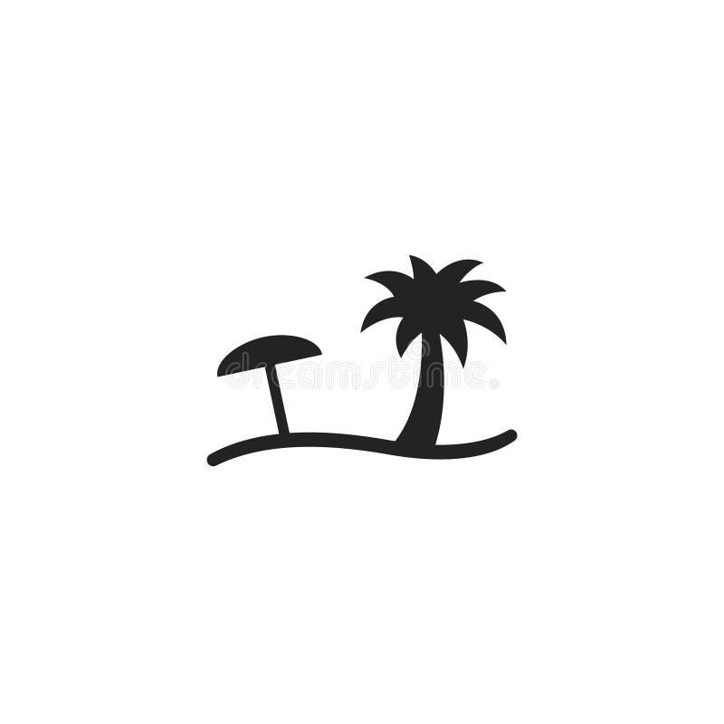 Pictogram, het Symbool of het Embleem van strandglyph het Vector vector illustratie
