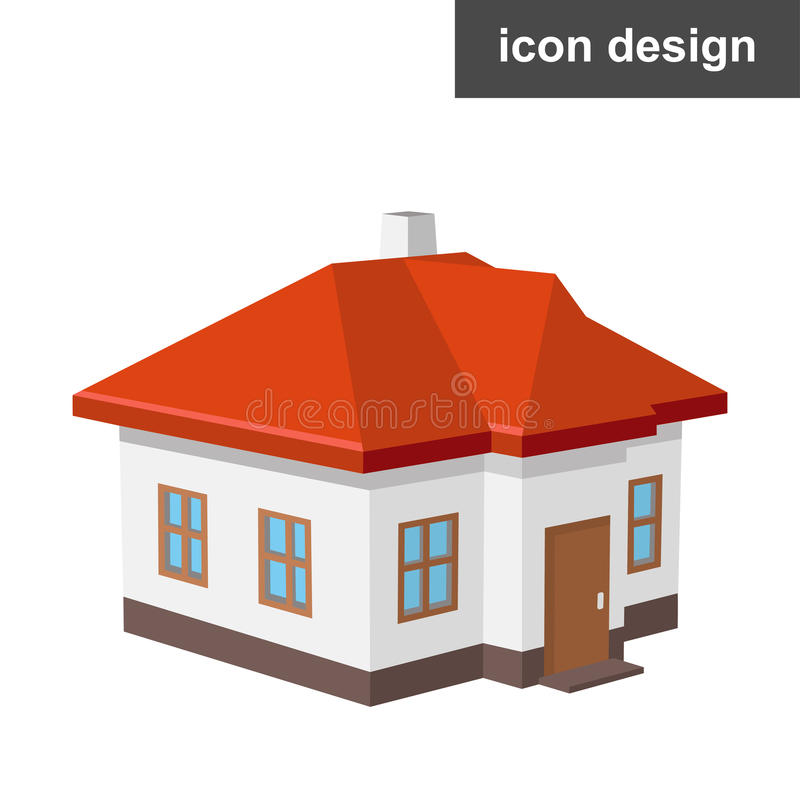 Pictogram isometrisch huis stock foto's