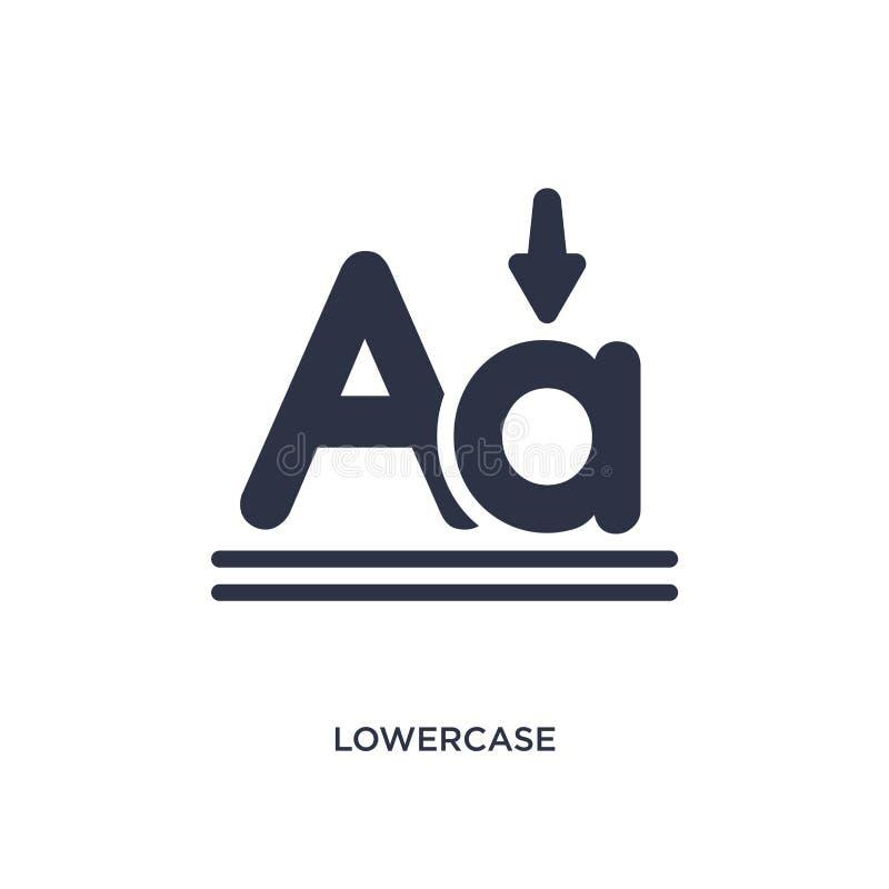 pictogram in kleine letters op witte achtergrond Eenvoudige elementenillustratie van gebruikersinterfaceconcept vector illustratie