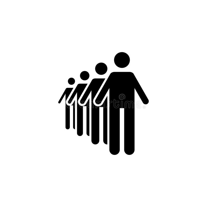 Pictogram of line, long, people icon vector illustration