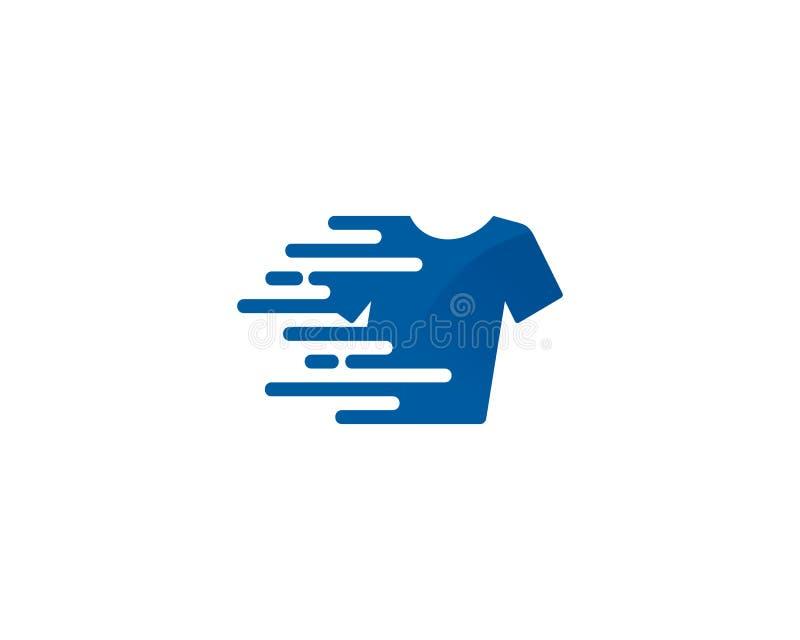 Pictogram Logo Design Element van de snelheids het Snelle Wasserij vector illustratie