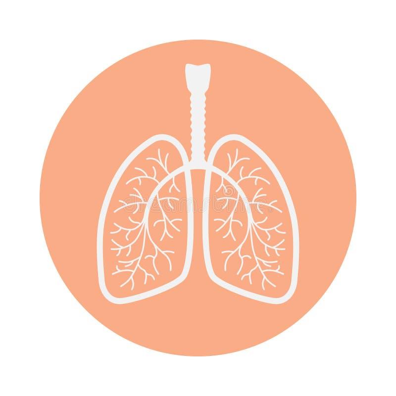 Pictogram menselijke longen in de cirkel stock illustratie