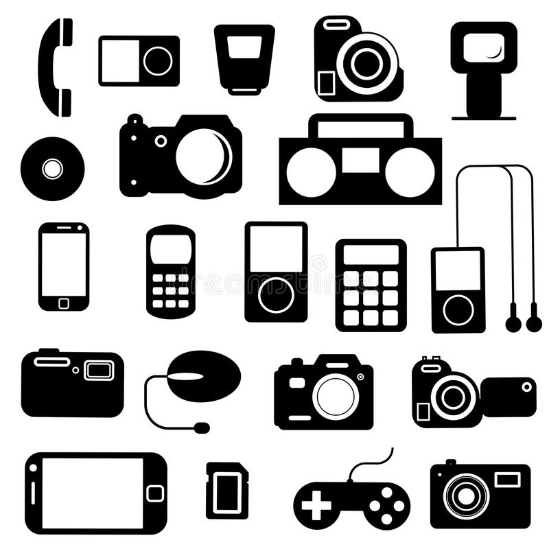 Download Pictogram Met Elektronische Gadgets. Vector Illustratie - Illustratie bestaande uit internet, digitaal: 29514710