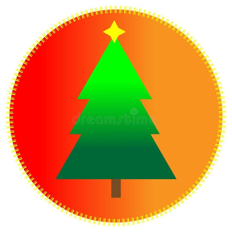 Pictogram met Kerstmisboom stock illustratie