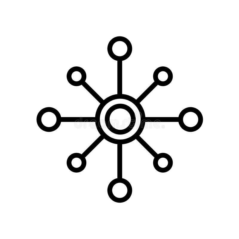 pictogram met meerdere kanalen die op witte achtergrond wordt geïsoleerd vector illustratie