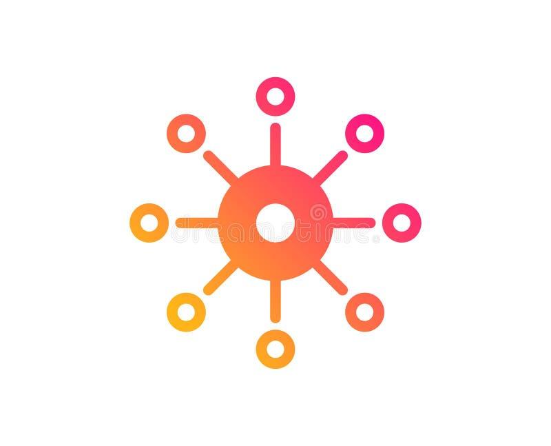 Pictogram met meerdere kanalen Multitasking teken Vector stock illustratie