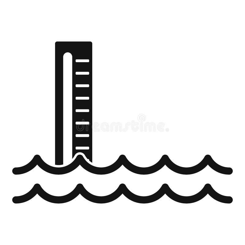Pictogram overstromingswater, eenvoudige stijl royalty-vrije illustratie