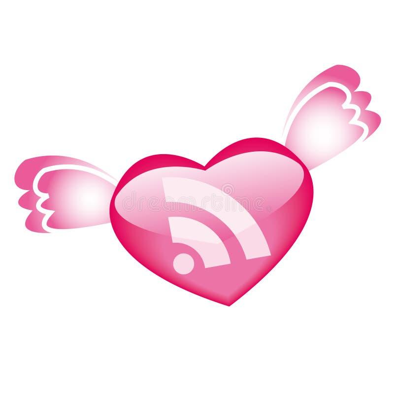 Pictogram RSS voor dag St.Valentine royalty-vrije illustratie