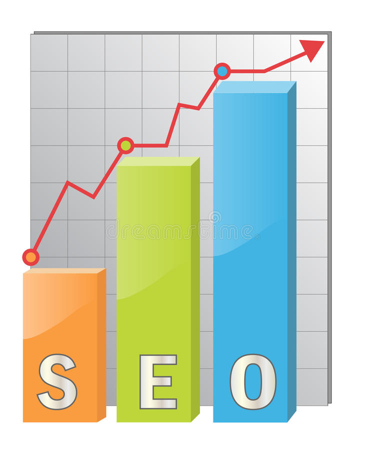 Pictogram SEO stock illustratie