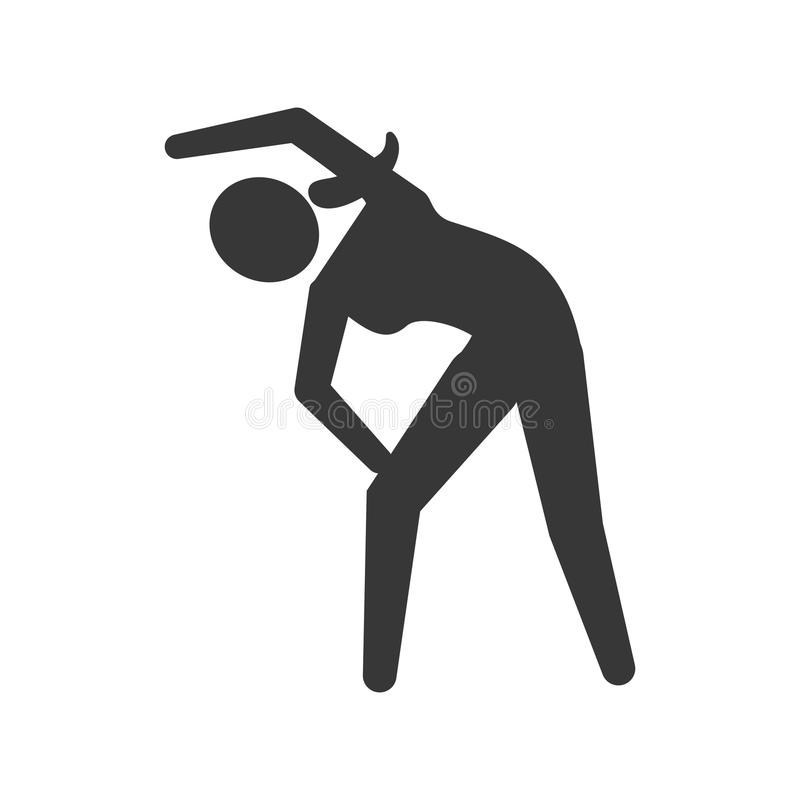 Pictogram stretching icon. Healthy lifestyle design. Vector grap. Healthy lifestyle concept represented by pictogram stretching icon. isolated and flat stock illustration
