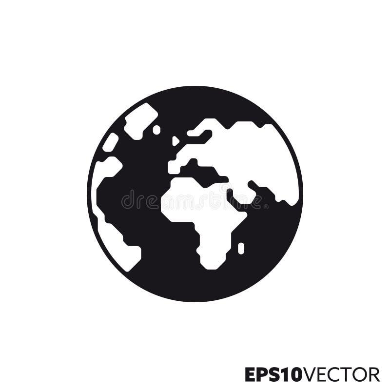Pictogram van aarde het vectorglyph stock illustratie