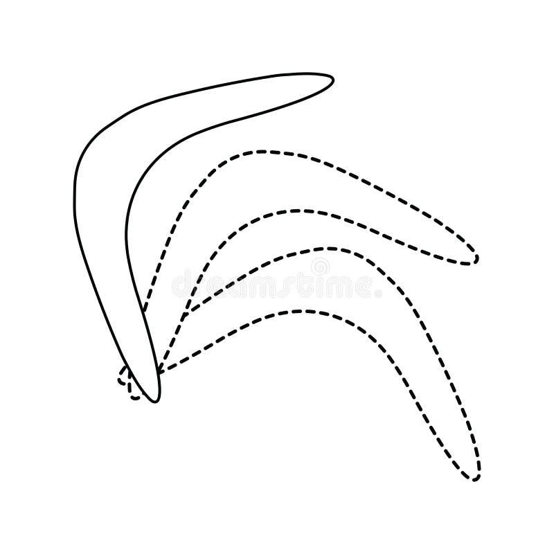 Pictogram van boemerang stock illustratie