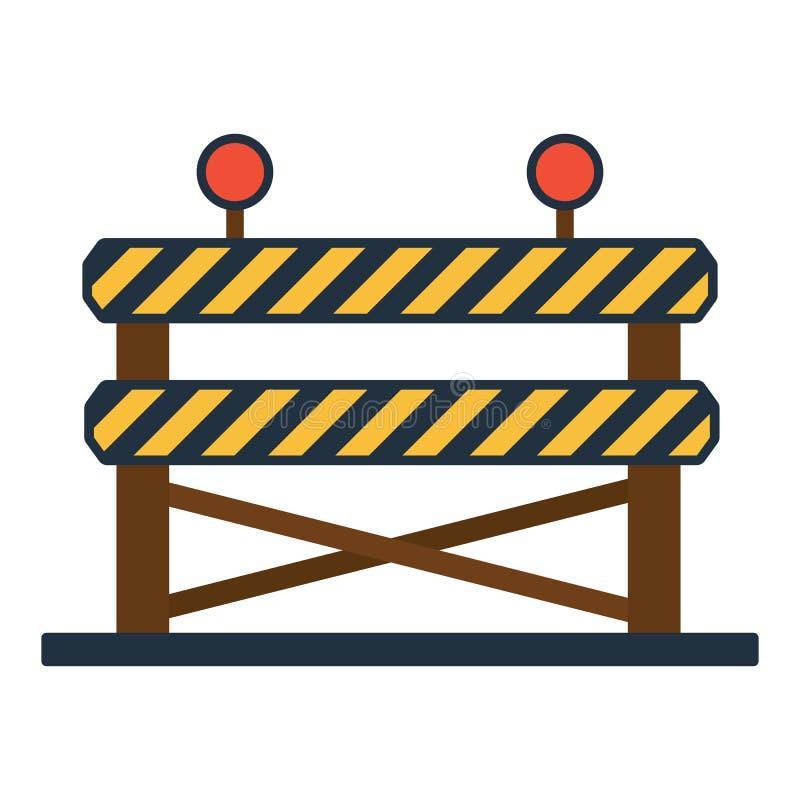 Download Pictogram Van Bouwomheining Vector Illustratie - Illustratie bestaande uit barrière, palisade: 107703030