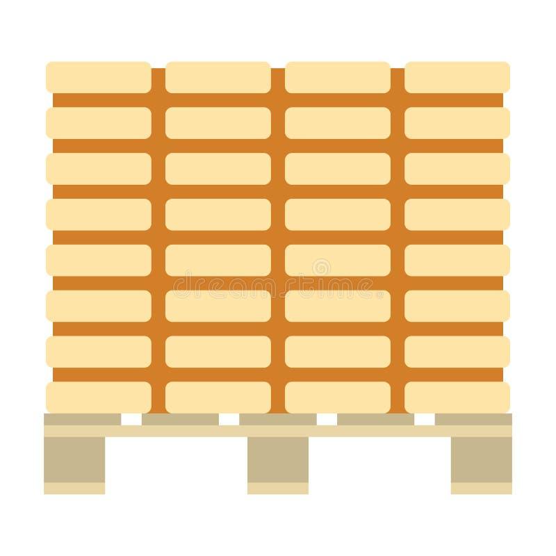 Download Pictogram van bouwpallet vector illustratie. Illustratie bestaande uit pallet - 107702995