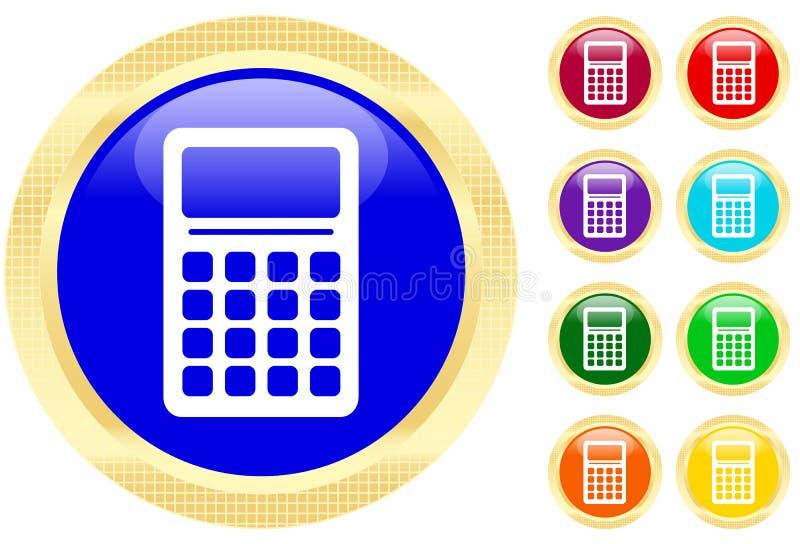 Pictogram van calculator stock illustratie