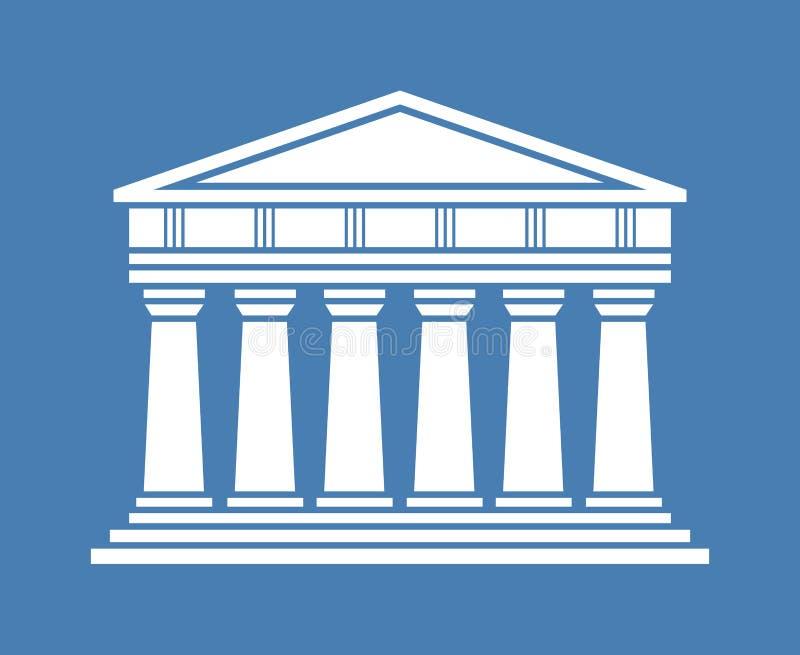 Pictogram van de architectuur het Griekse tempel vector illustratie
