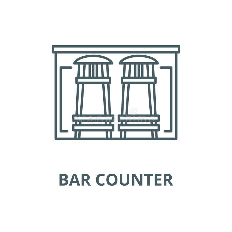 Pictogram van de bar het tegen vectorlijn, lineair concept, overzichtsteken, symbool royalty-vrije illustratie