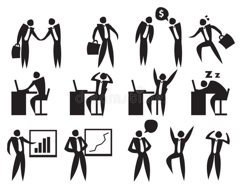 Pictogram van de Bedrijfsmens royalty-vrije illustratie