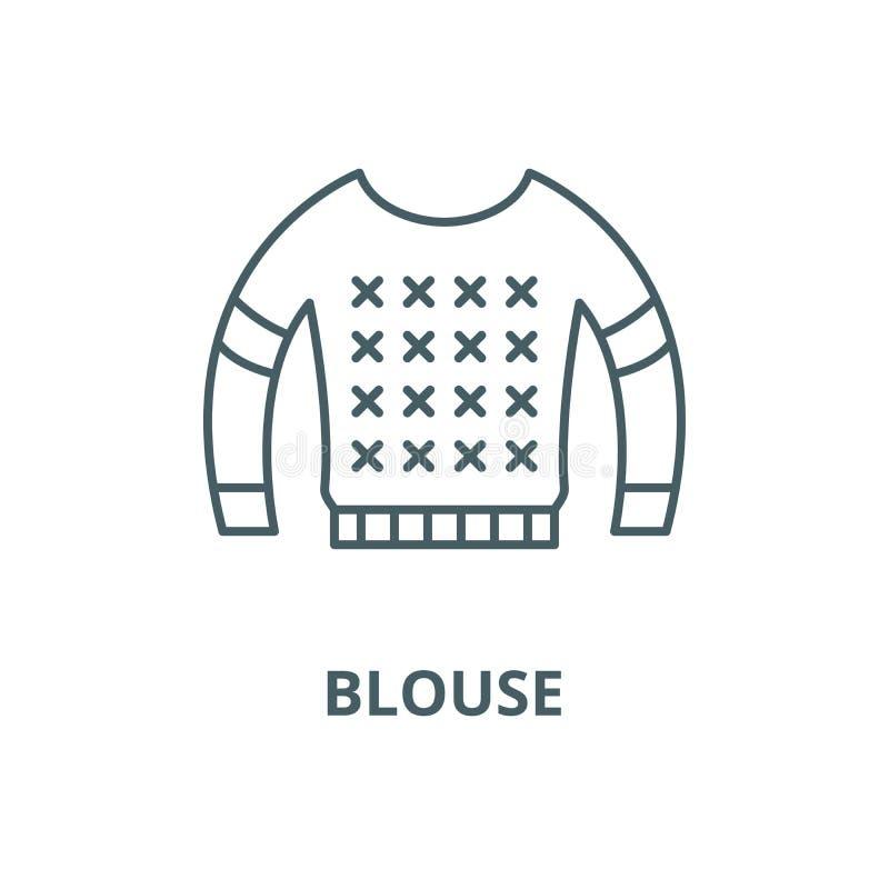 Pictogram van de blouse het vectorlijn, lineair concept, overzichtsteken, symbool vector illustratie