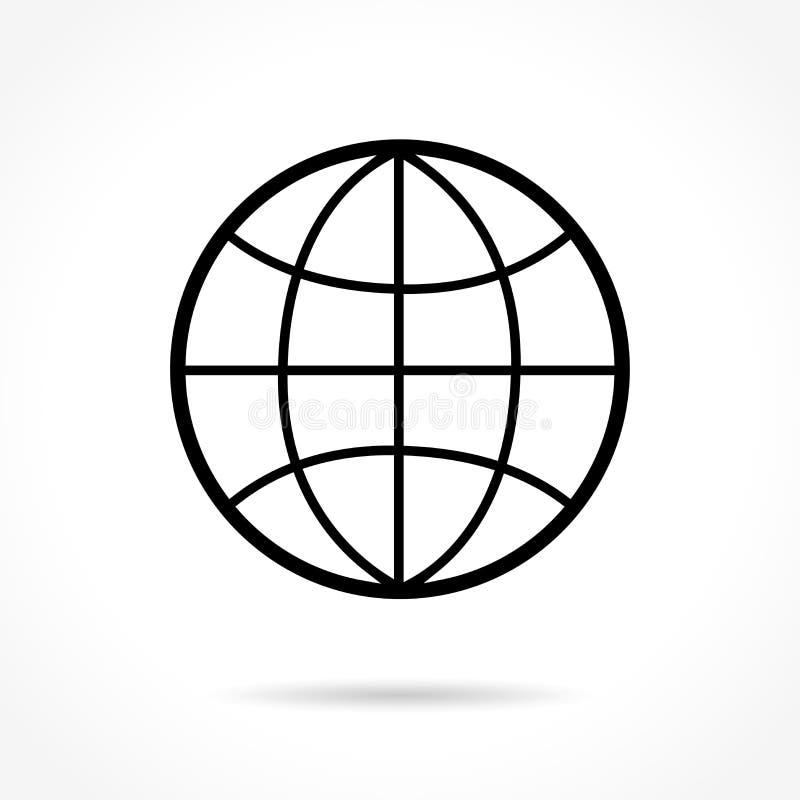 Pictogram van de bol het dunne lijn vector illustratie