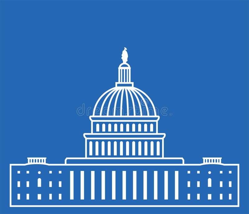 Pictogram van de bouw van Verenigde Staten Capitol Hill royalty-vrije illustratie
