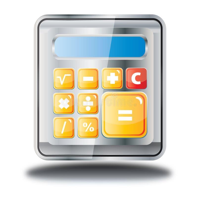 Pictogram van de calculator het online winkel royalty-vrije stock fotografie