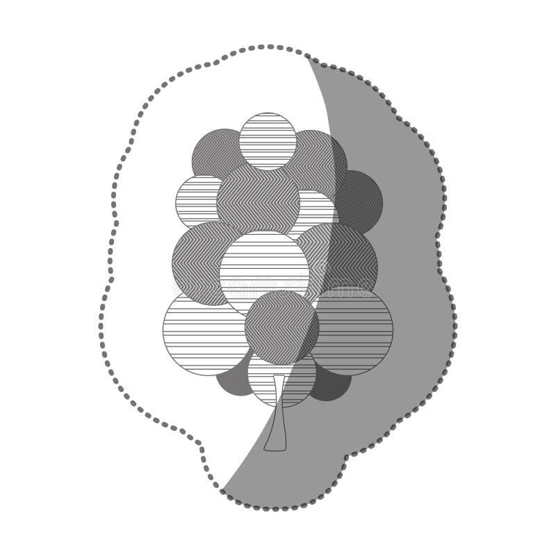 pictogram van de cijfer het zegel gestileerde boom royalty-vrije illustratie