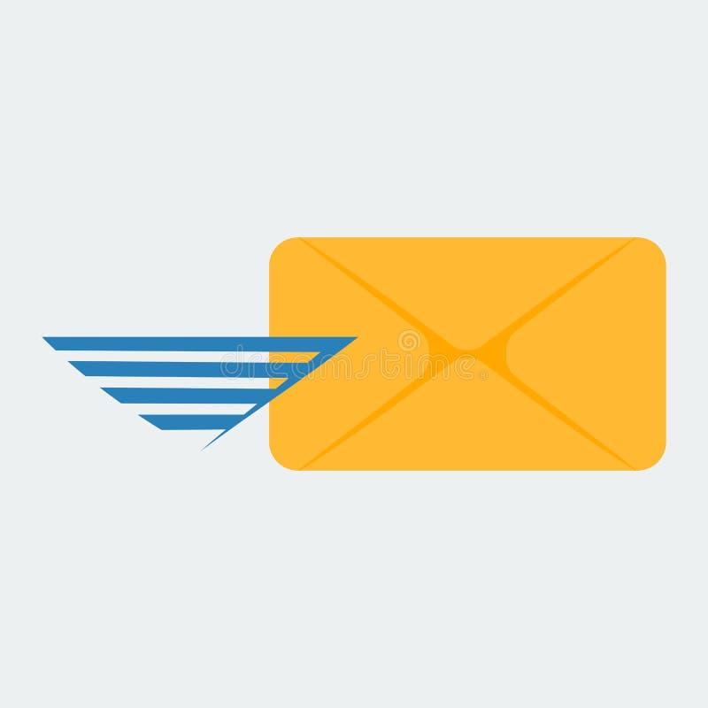 Pictogram van de dekking Het pictogram voor het verzenden van een bericht of een e-mail vector illustratie