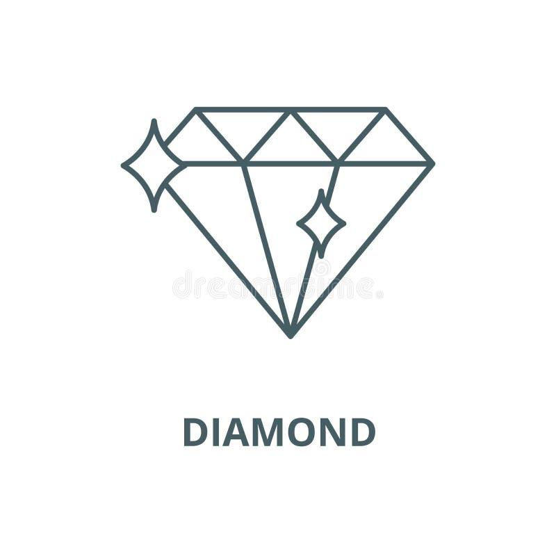 Pictogram van de diamant het vectorlijn, lineair concept, overzichtsteken, symbool stock illustratie