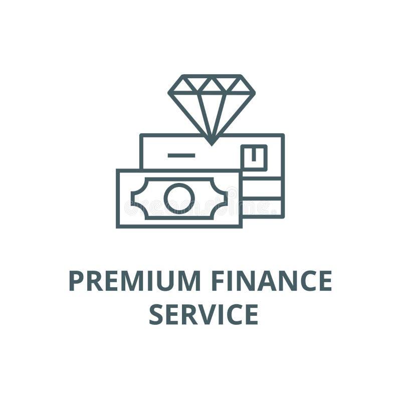 Pictogram van de de dienst het vectorlijn van premiefinanciën, lineair concept, overzichtsteken, symbool vector illustratie