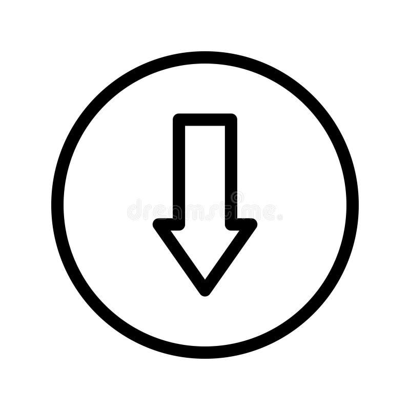 Pictogram van de download het vectorlijn royalty-vrije illustratie