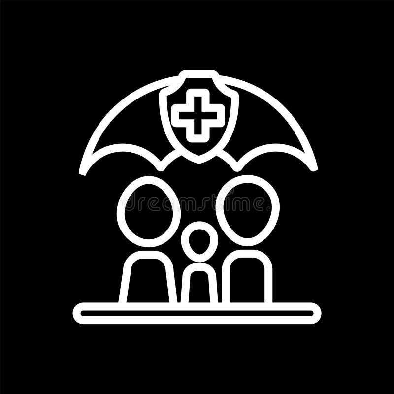 pictogram van de de familiegezondheidszorg van het gezondheidszorgpictogram het vector voor uw zaken vector illustratie