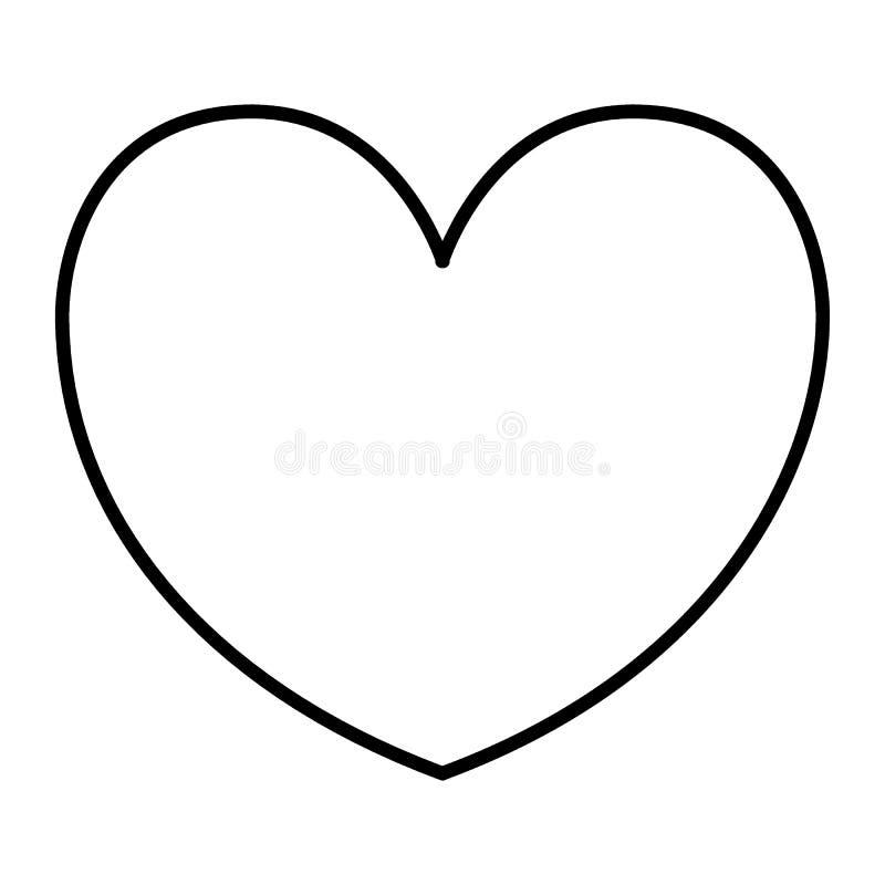 Pictogram van de hart het dunne lijn Liefdeillustratie op wit wordt geïsoleerd dat De stijlontwerp van het hartstochtsoverzicht,  vector illustratie