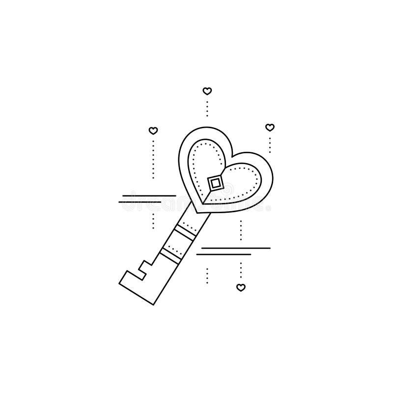 Pictogram van de hart het zeer belangrijke lijn stock illustratie