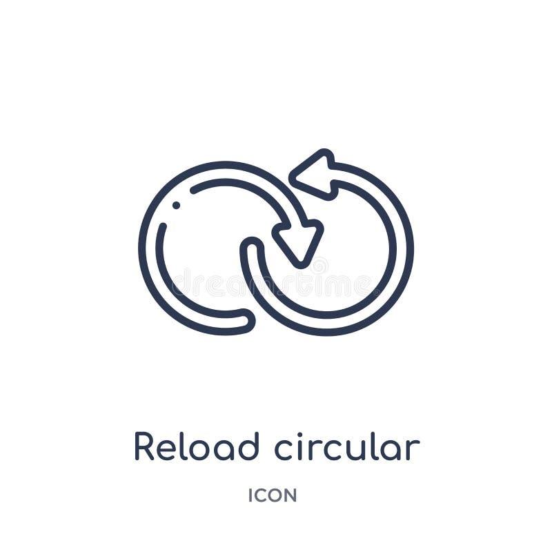 pictogram van de herladen het cirkelpijl van de uiteindelijke inzameling van het glyphiconsoverzicht Dun cirkeldie de pijlpictogr royalty-vrije illustratie