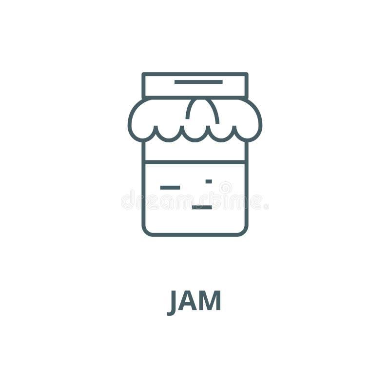 Pictogram van de jam het vectorlijn, lineair concept, overzichtsteken, symbool vector illustratie