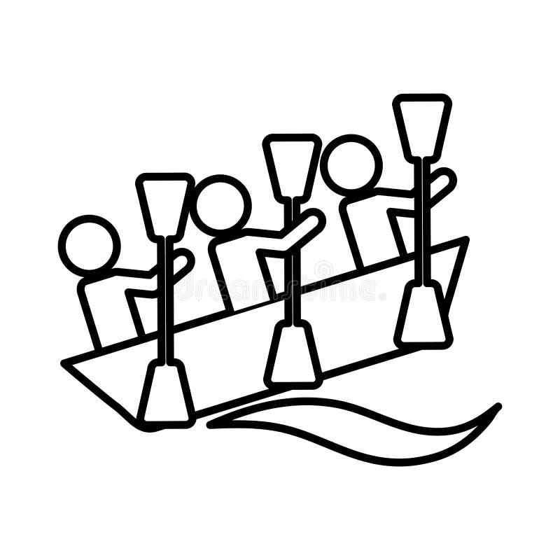 pictogram van de kajak het extreme sport vector illustratie