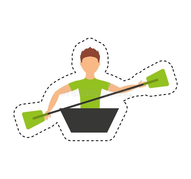 pictogram van de kajak het extreme sport royalty-vrije illustratie