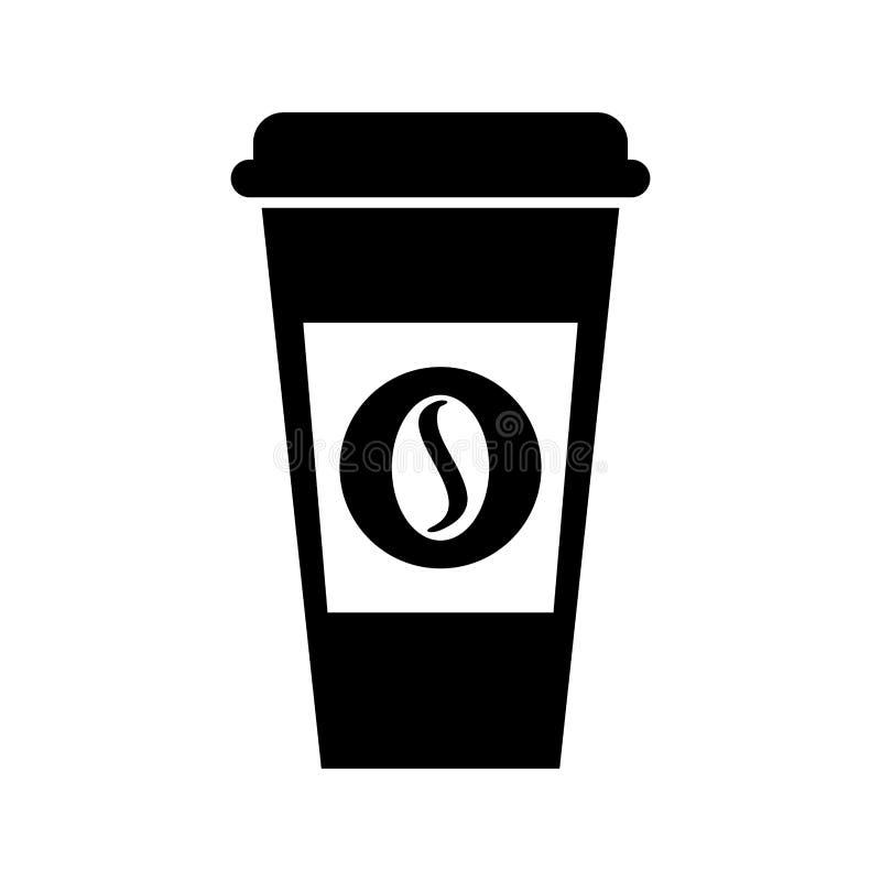 Pictogram van de koffie het plastic kop vector illustratie