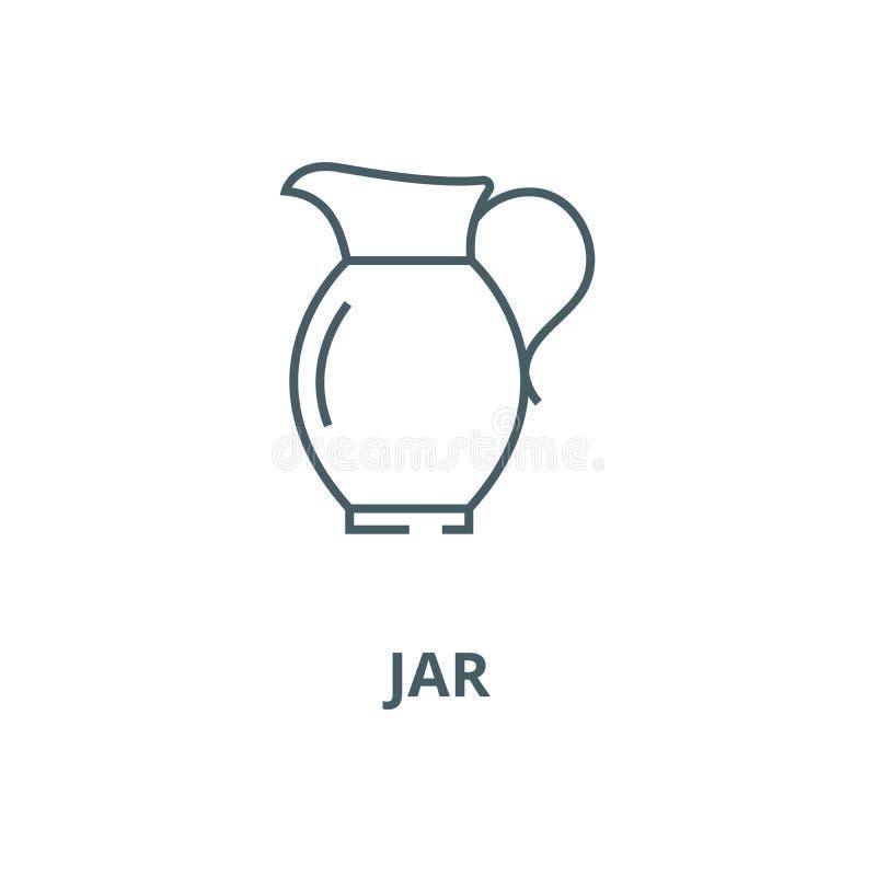 Pictogram van de kruik het vectorlijn, lineair concept, overzichtsteken, symbool stock illustratie