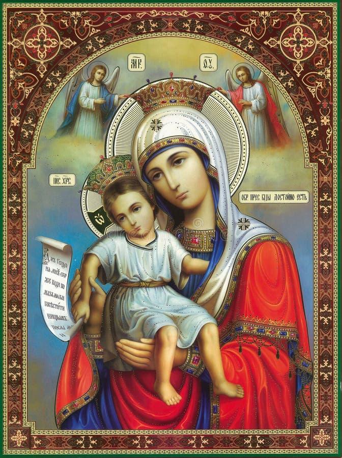 Pictogram van de moeder van God Erger van het bestaan stock fotografie