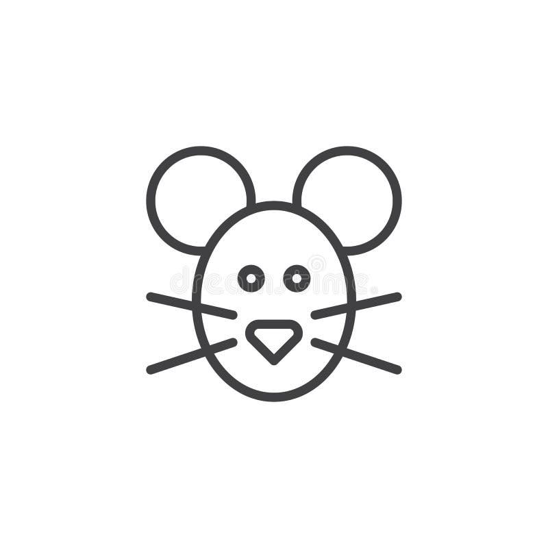 Pictogram van de muis het hoofdlijn royalty-vrije illustratie