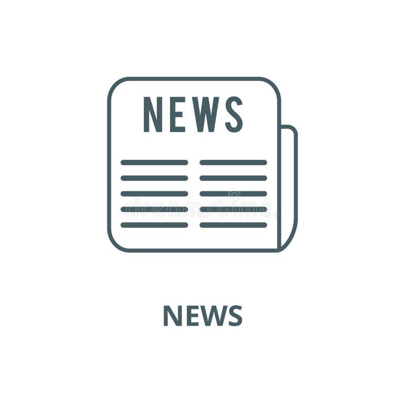 Pictogram van de nieuws het vectorlijn, lineair concept, overzichtsteken, symbool royalty-vrije illustratie