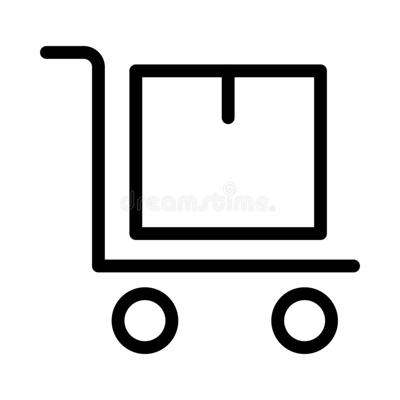 Pictogram van de pakket het dunne lijn stock illustratie