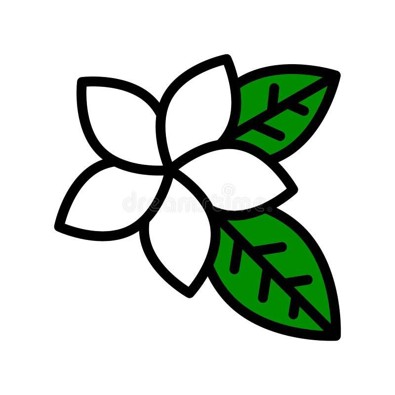 Pictogram van de Plumeria het vector, tropische verwante gevulde stijl vector illustratie