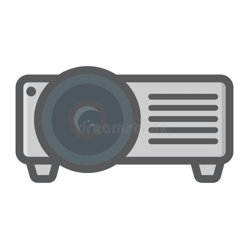 Pictogram van de projector het kleurrijke lijn, presentatievergadering vector illustratie