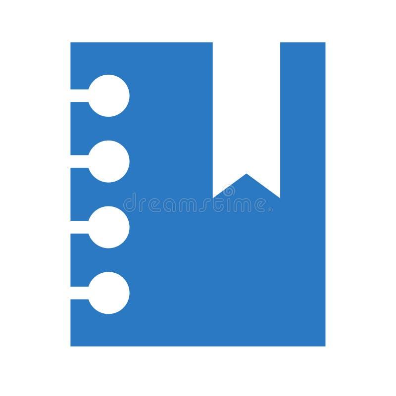 Pictogram van de referentie glyphs het dubbele kleur stock illustratie