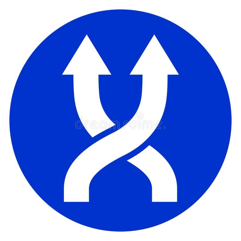 Pictogram van de schuifelgang het blauwe cirkel stock illustratie
