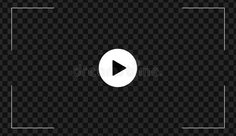 Pictogram van de spel het videodieknoop, tekenvector op transparante achtergrond wordt geïsoleerd stock illustratie