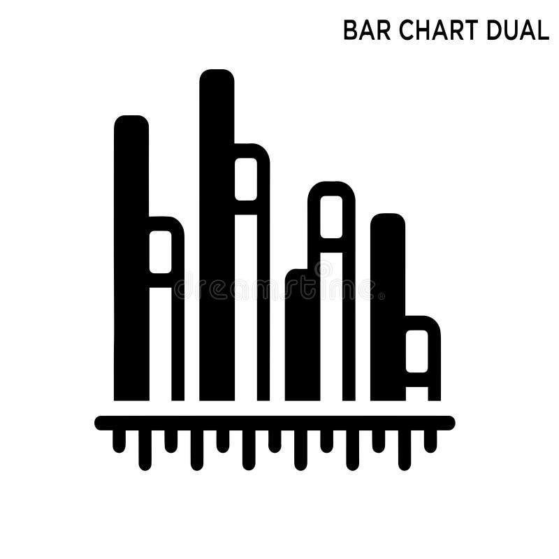 Pictogram van de staafdiagram het dubbele informatie vector illustratie